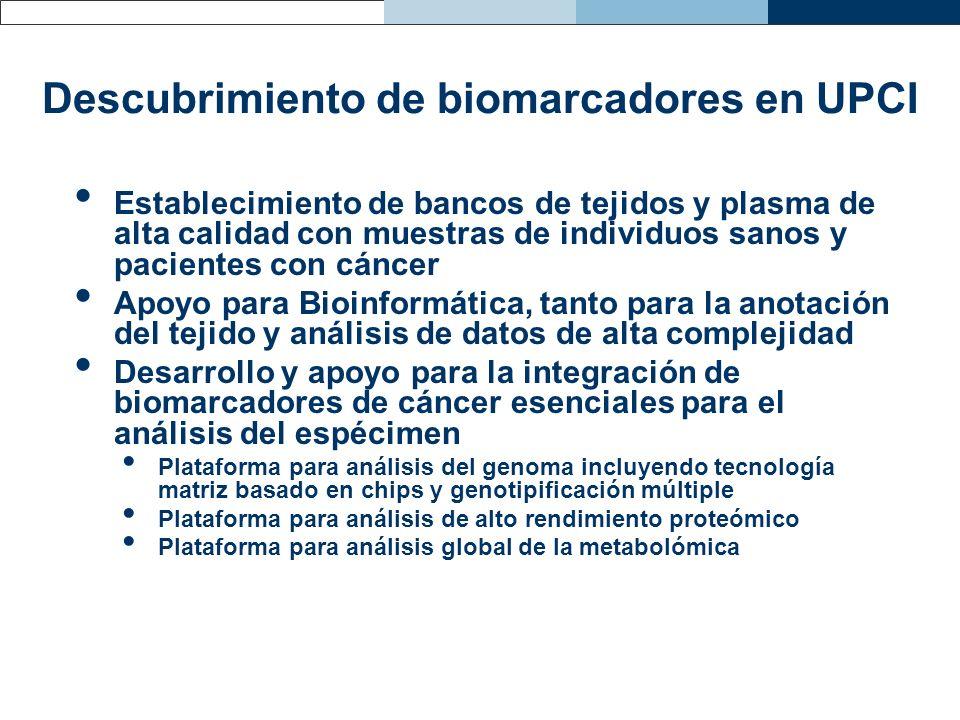Descubrimiento de biomarcadores en UPCI