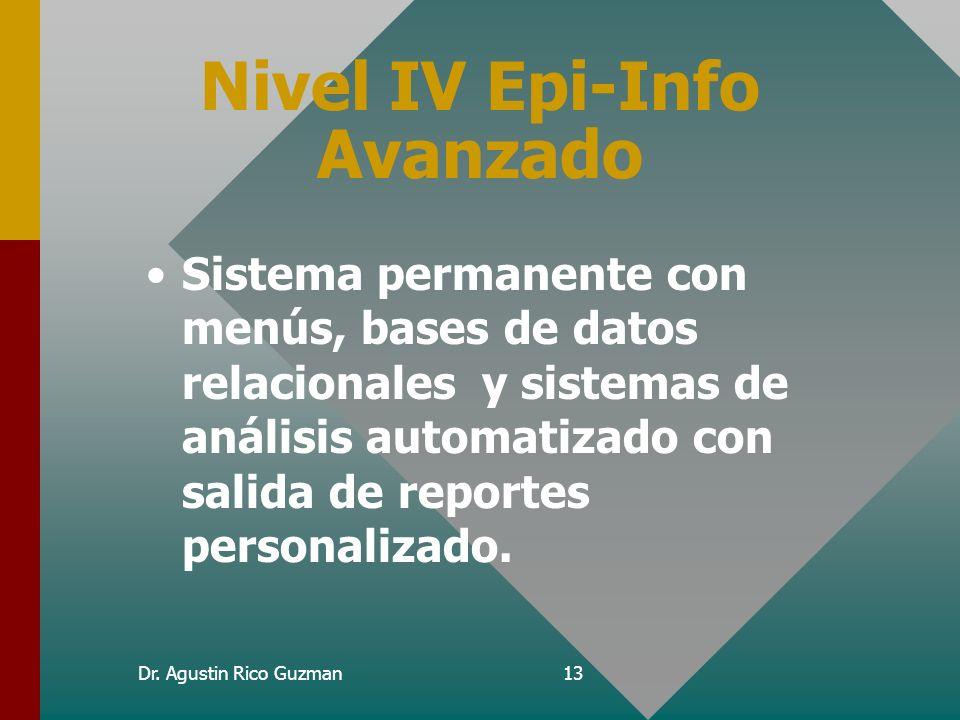 Nivel IV Epi-Info Avanzado