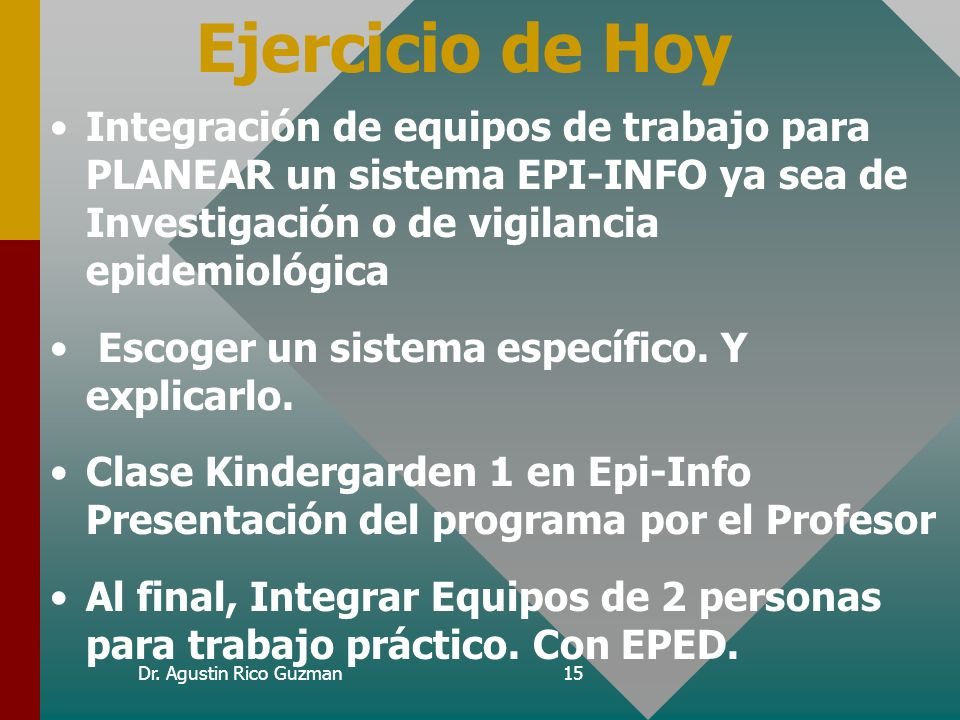 Ejercicio de Hoy Curso de Epi-Info.