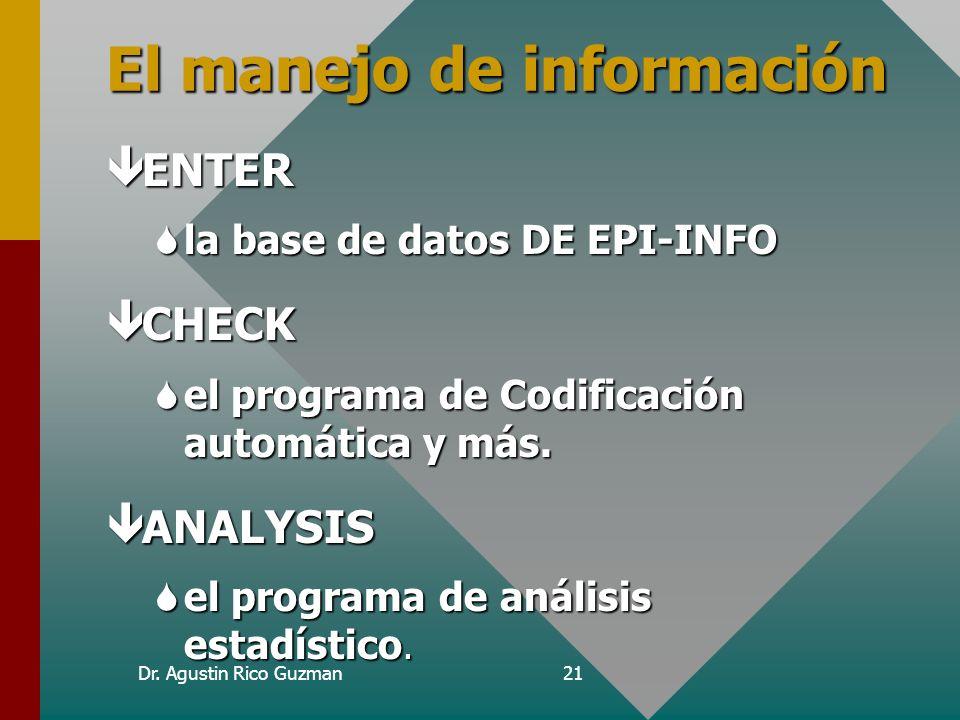 El manejo de información