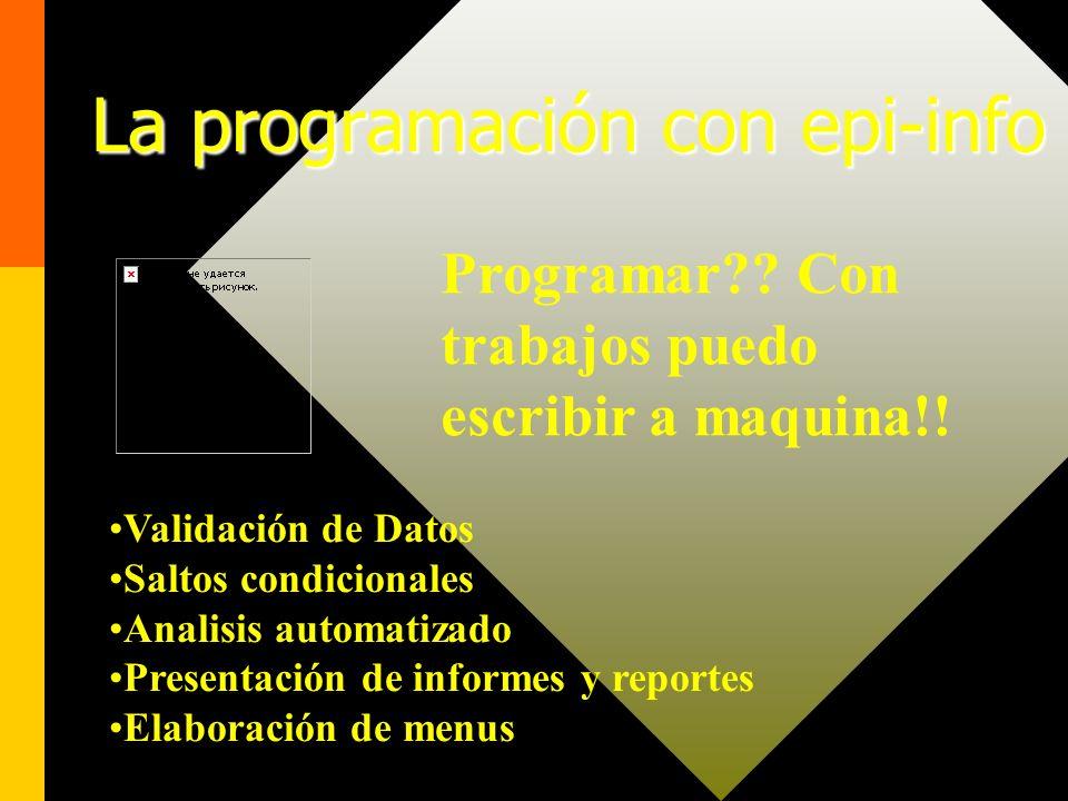La programación con epi-info