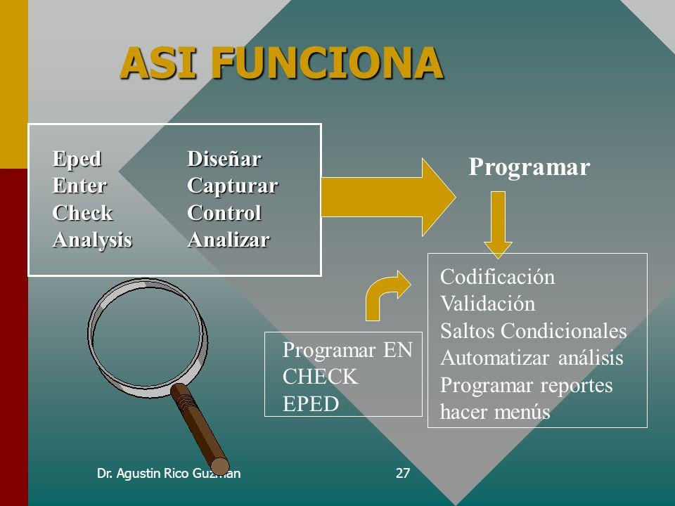 ASI FUNCIONA Programar Eped Diseñar Enter Capturar Check Control