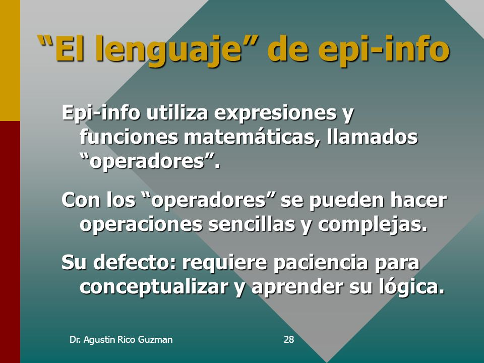 El lenguaje de epi-info