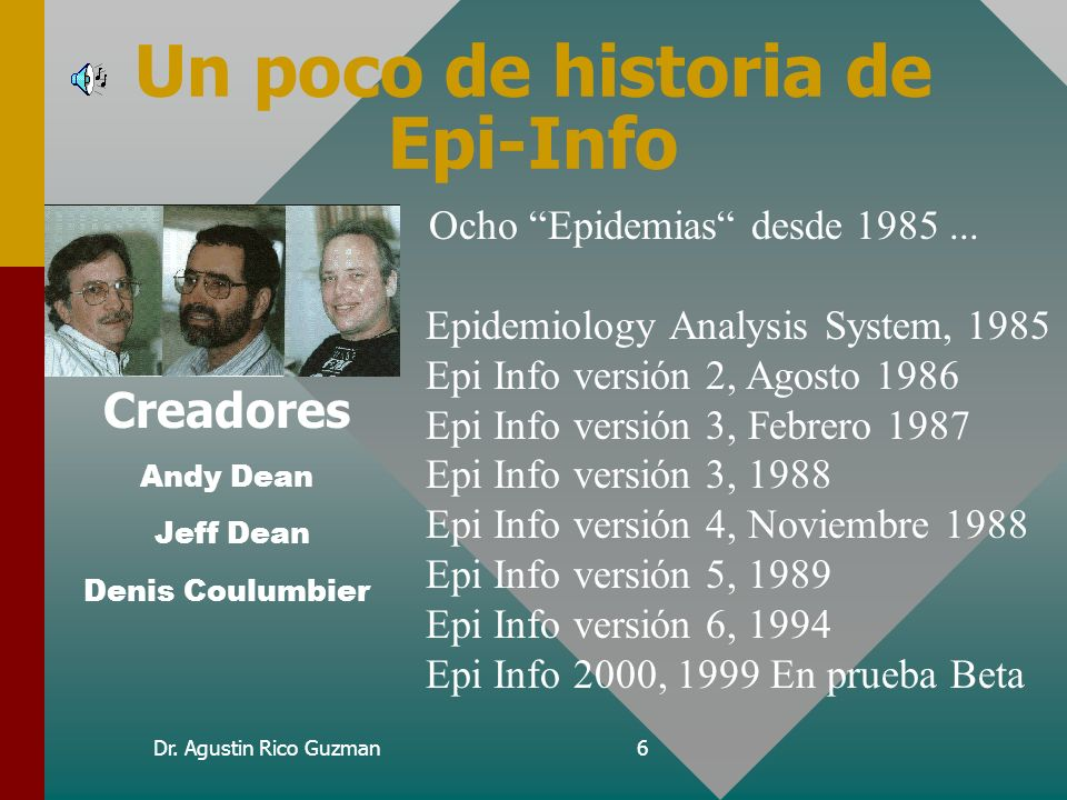Un poco de historia de Epi-Info