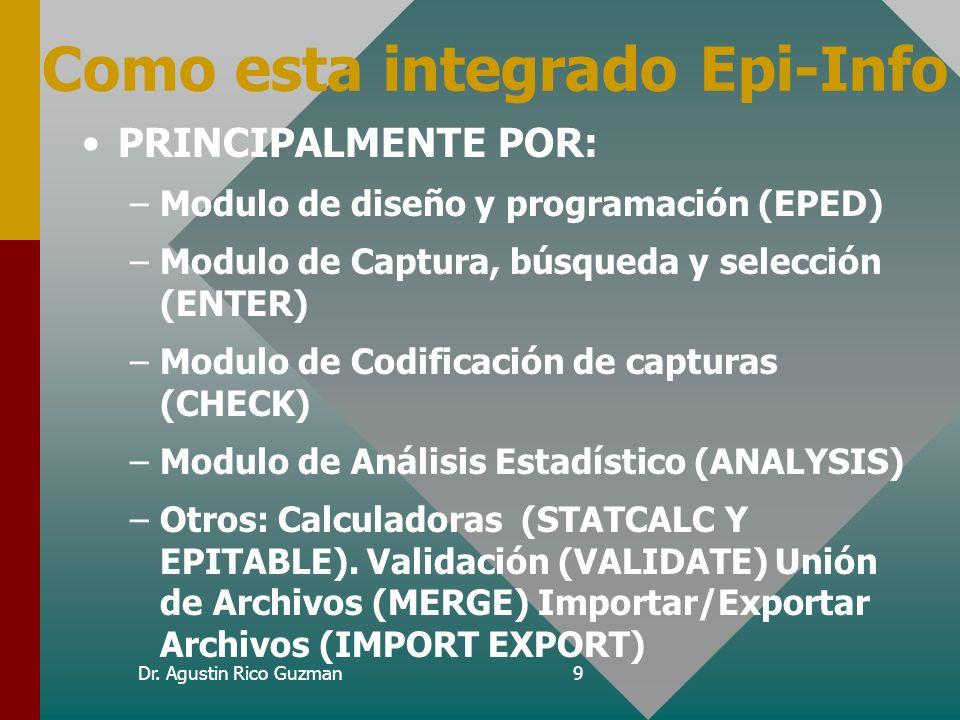 Como esta integrado Epi-Info