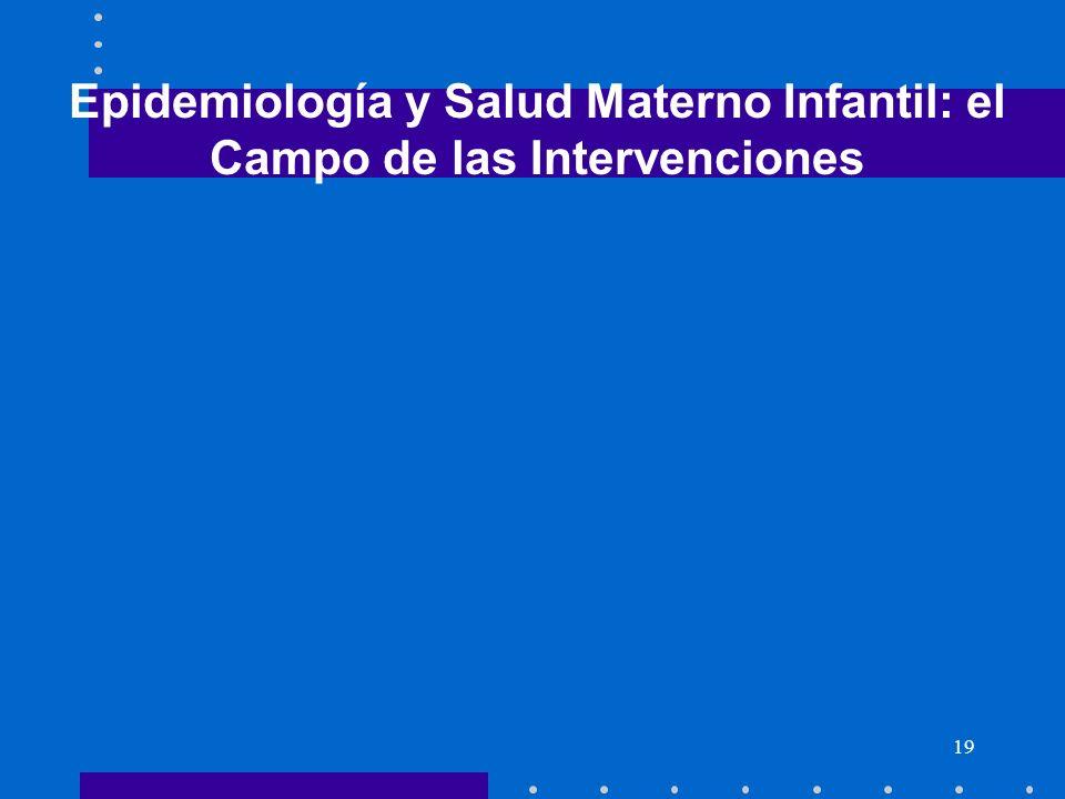 Epidemiología y Salud Materno Infantil: el Campo de las Intervenciones