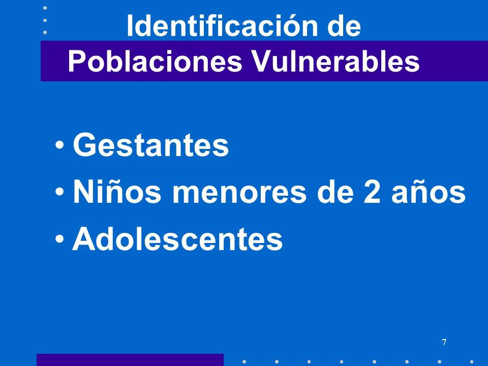 Identificación de Poblaciones Vulnerables