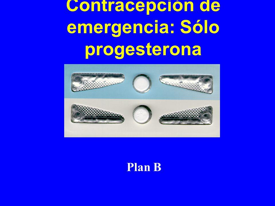 Contracepción de emergencia: Sólo progesterona