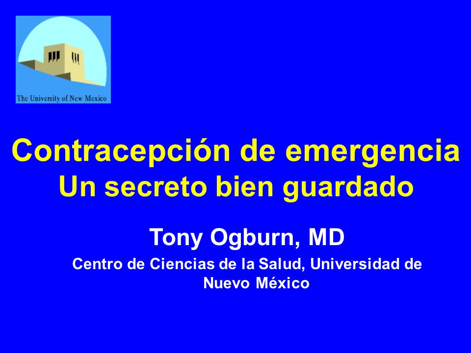 Contracepción de emergencia