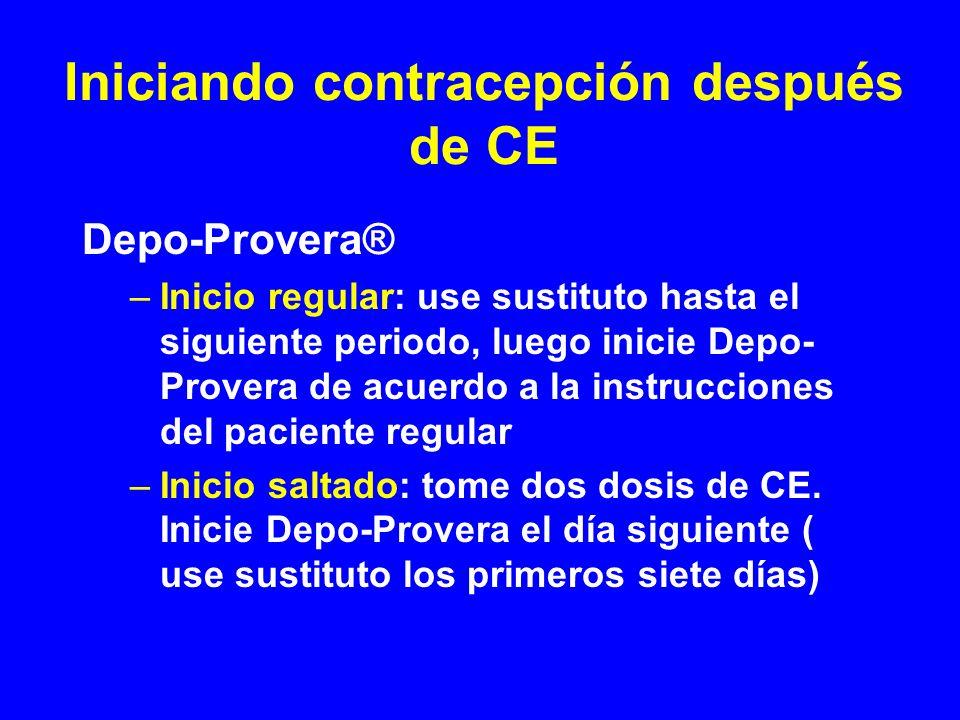 Iniciando contracepción después de CE