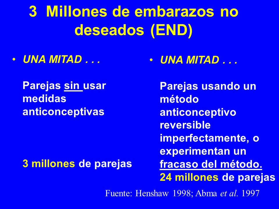3 Millones de embarazos no deseados (END)