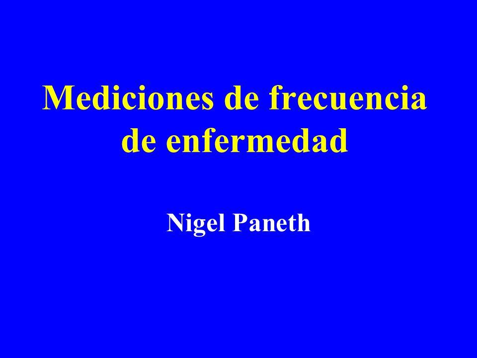 Mediciones de frecuencia de enfermedad