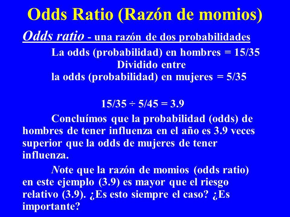 Odds Ratio (Razón de momios)