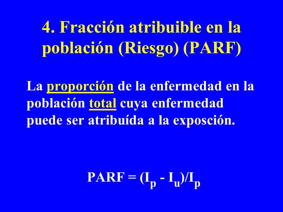 4. Fracción atribuible en la población (Riesgo) (PARF)