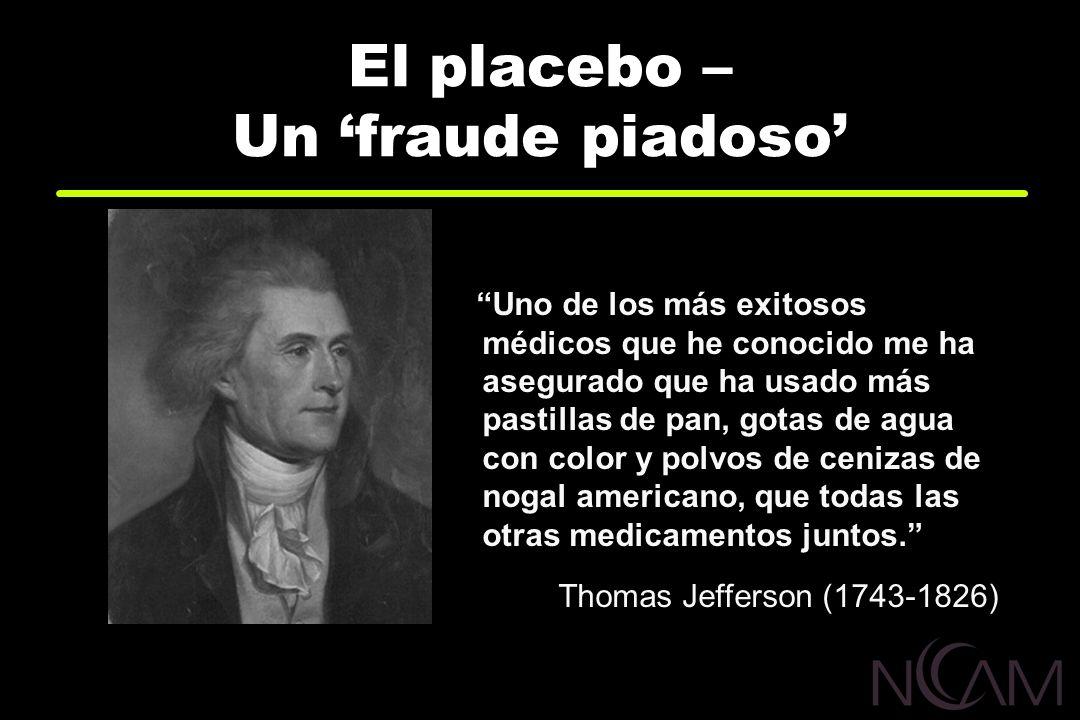 El placebo – Un 'fraude piadoso'