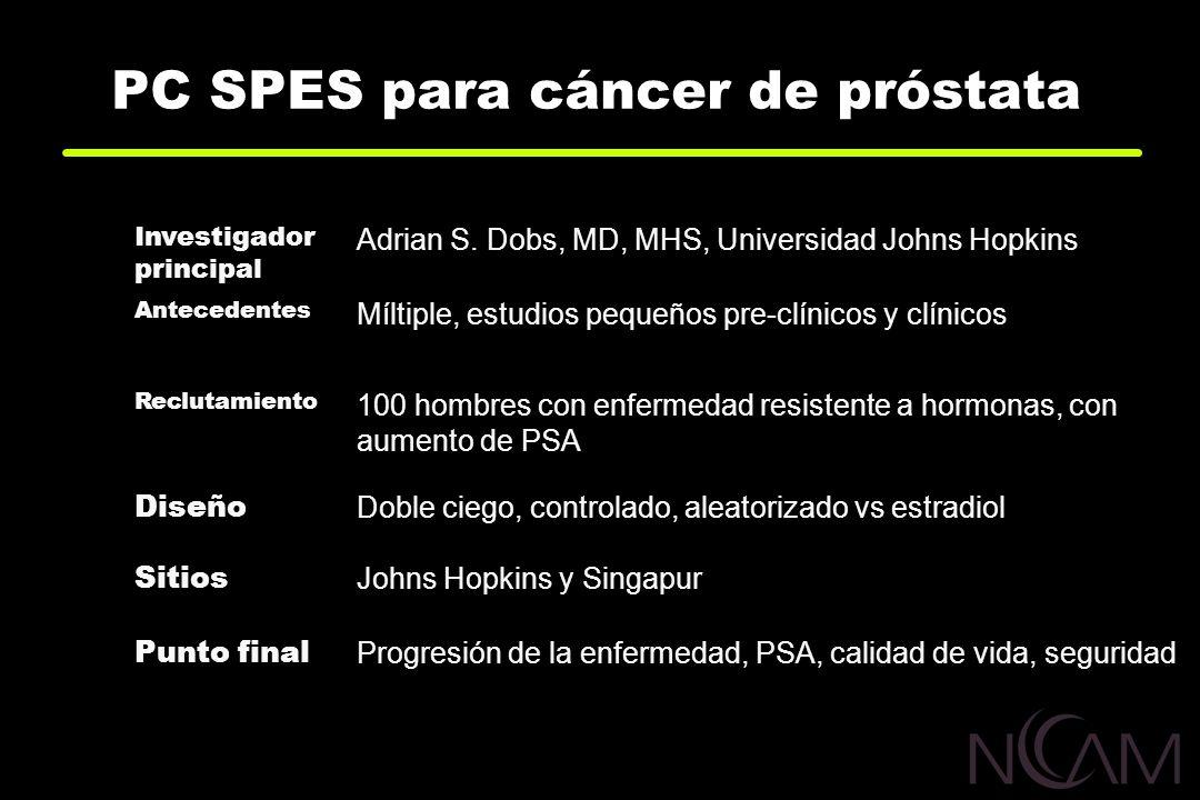 PC SPES para cáncer de próstata