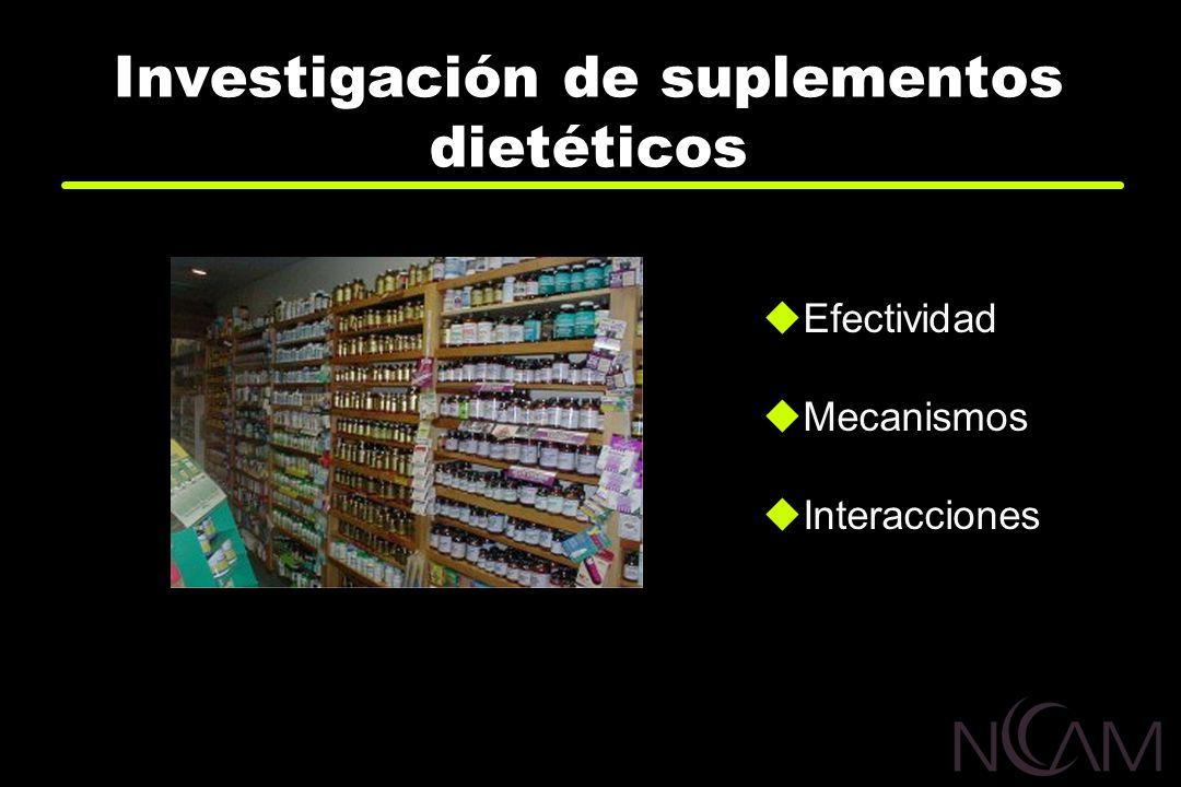 Investigación de suplementos dietéticos