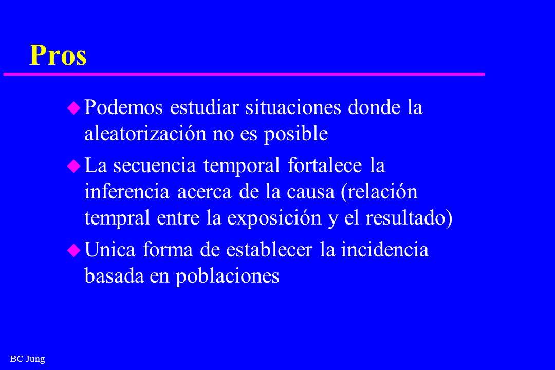 ProsPodemos estudiar situaciones donde la aleatorización no es posible.