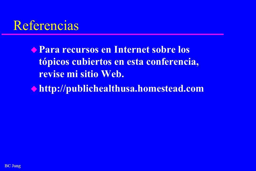 Referencias Para recursos en Internet sobre los tópicos cubiertos en esta conferencia, revise mi sitio Web.
