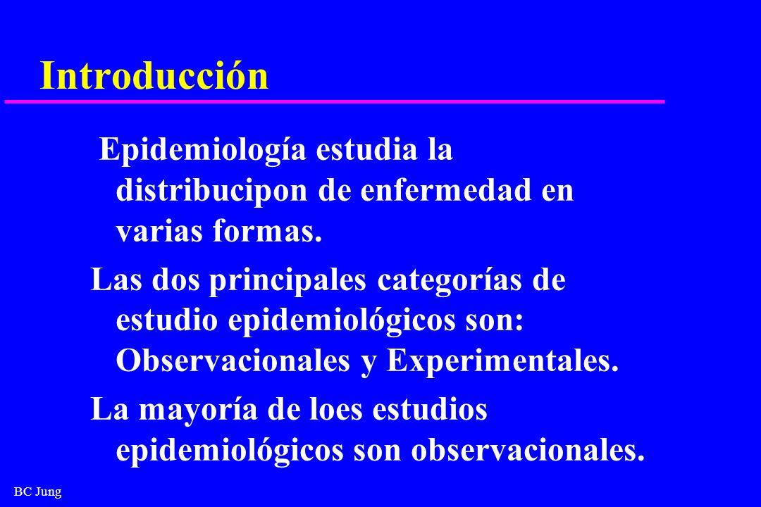IntroducciónEpidemiología estudia la distribucipon de enfermedad en varias formas.