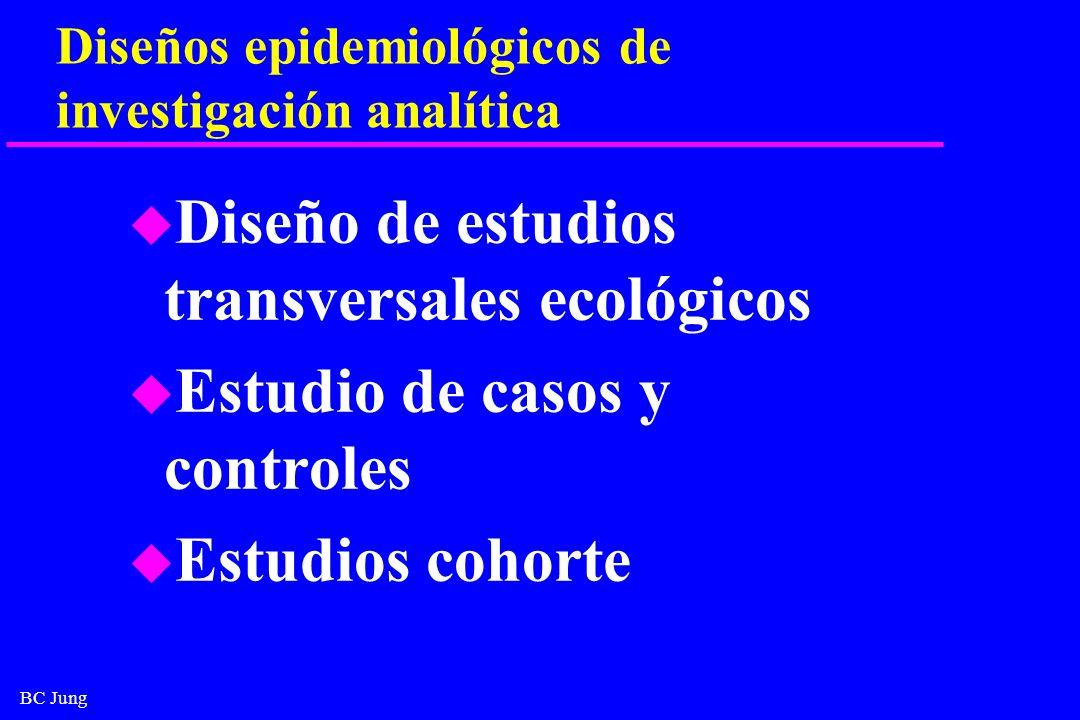 Diseños epidemiológicos de investigación analítica