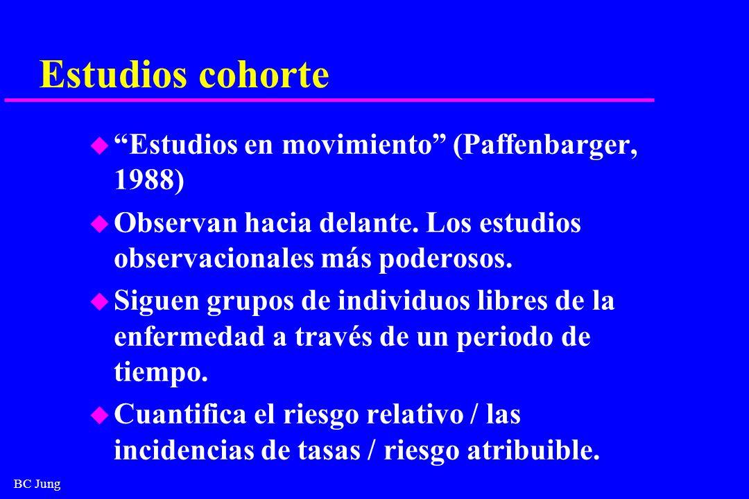 Estudios cohorte Estudios en movimiento (Paffenbarger, 1988)