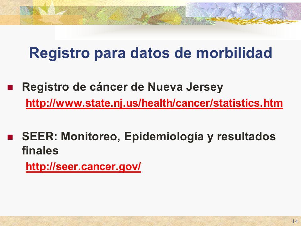 Registro para datos de morbilidad