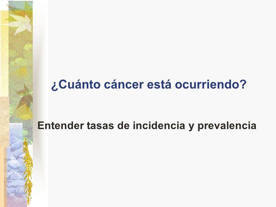 ¿Cuánto cáncer está ocurriendo