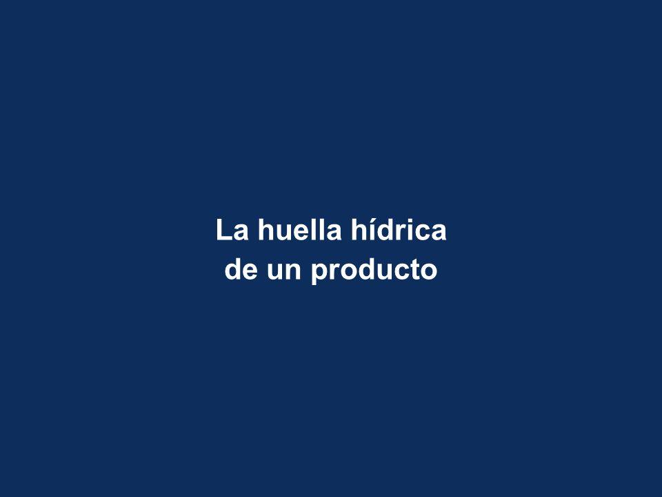 La huella hídrica de un producto