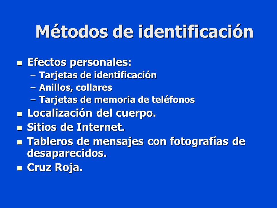 Métodos de identificación
