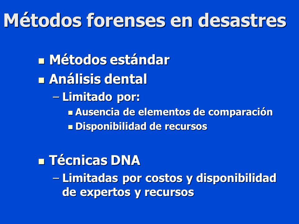 Métodos forenses en desastres