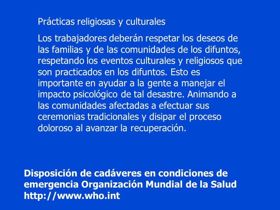 Prácticas religiosas y culturales