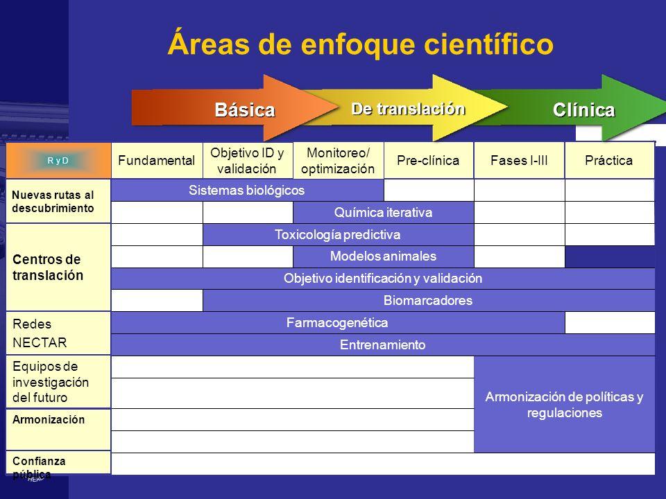 Áreas de enfoque científico