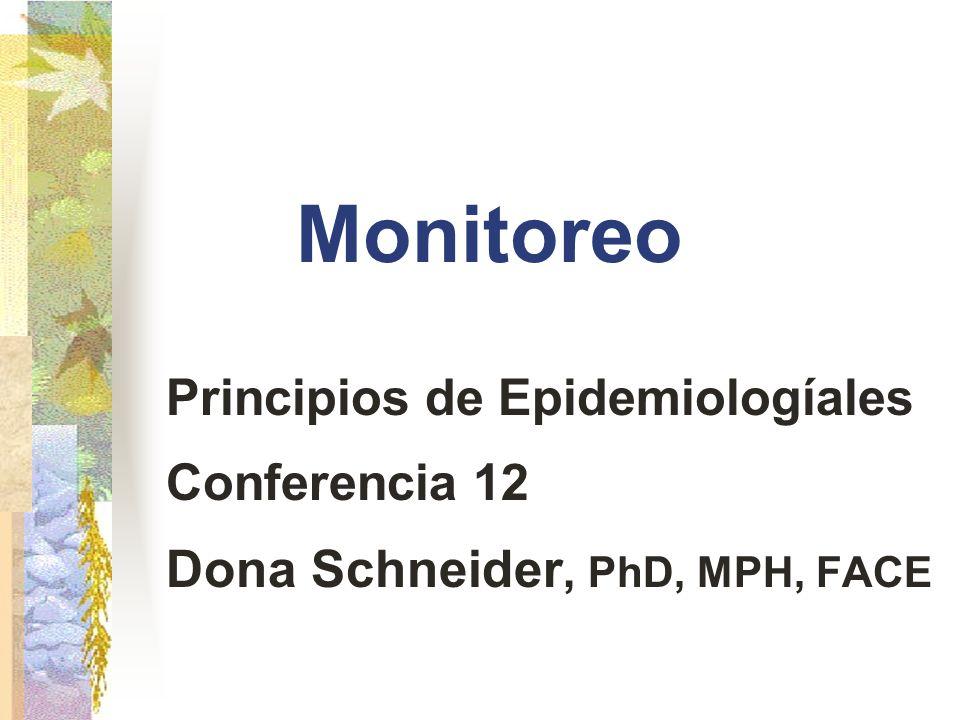 Monitoreo Dona Schneider, PhD, MPH, FACE