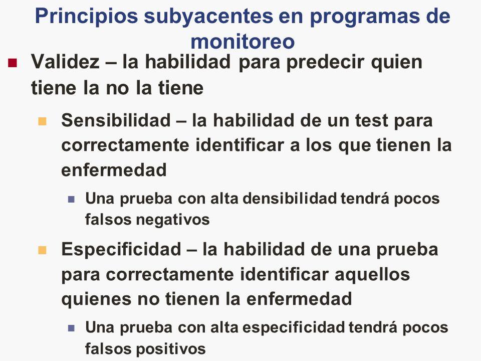 Principios subyacentes en programas de monitoreo