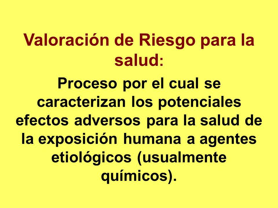 Valoración de Riesgo para la salud: