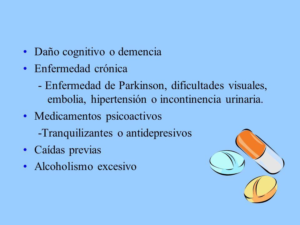 Daño cognitivo o demencia Enfermedad crónica