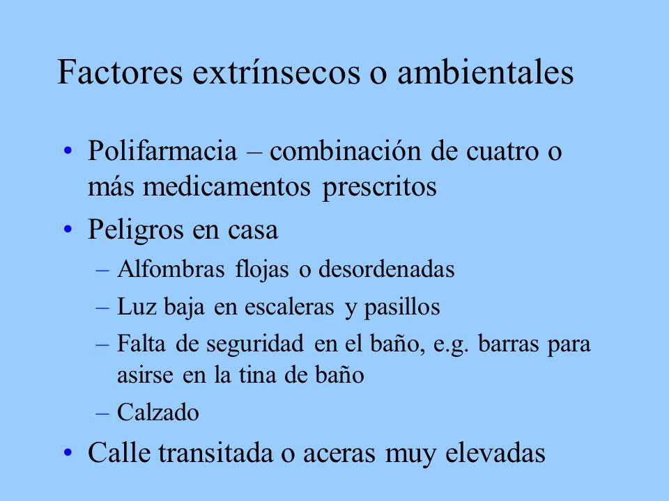 Factores extrínsecos o ambientales
