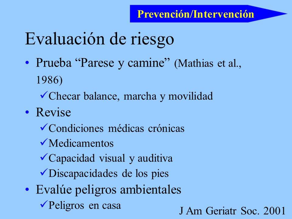 Prevención/Intervención