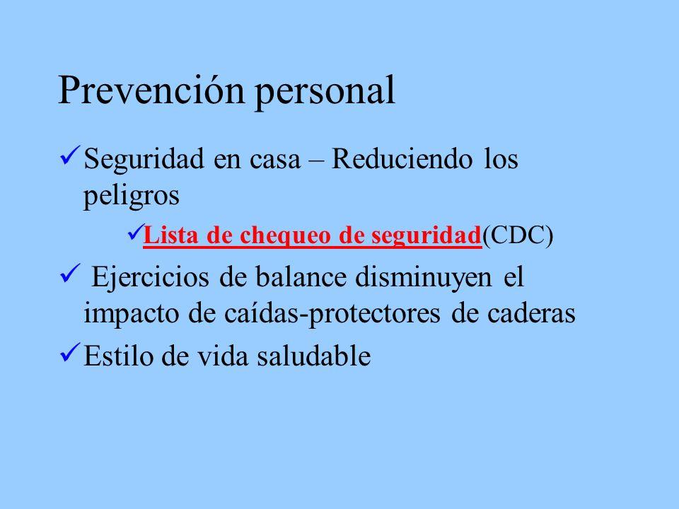 Prevención personal Seguridad en casa – Reduciendo los peligros