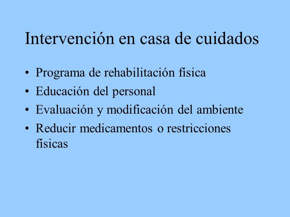 Intervención en casa de cuidados