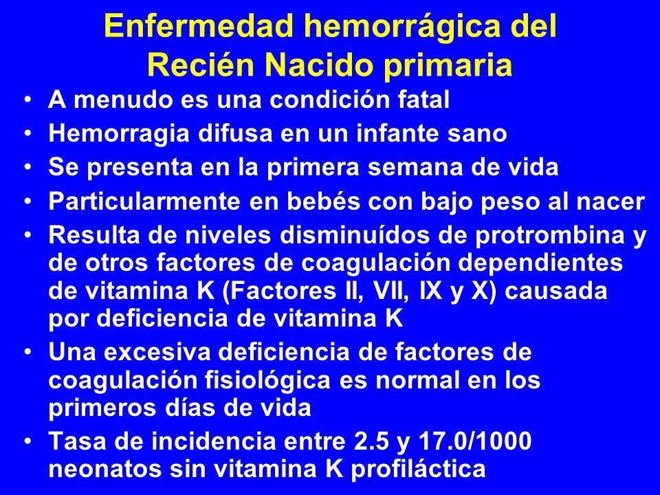 Enfermedad hemorrágica del Recién Nacido primaria