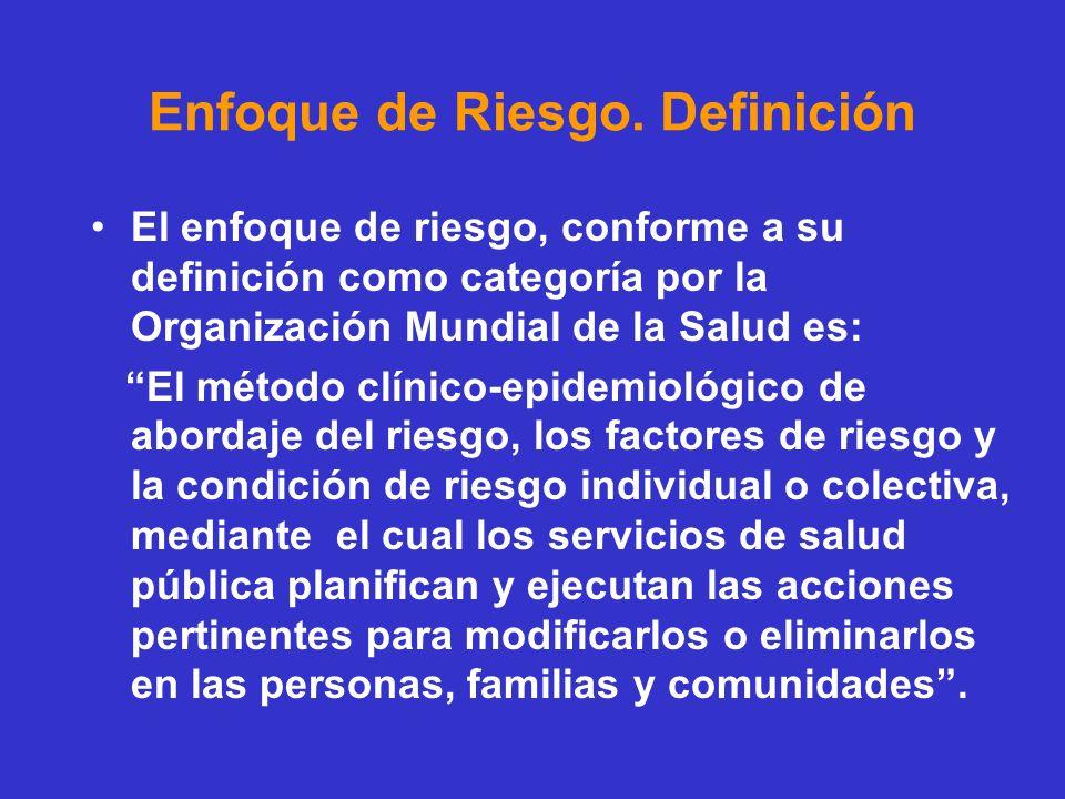 Enfoque de Riesgo. Definición