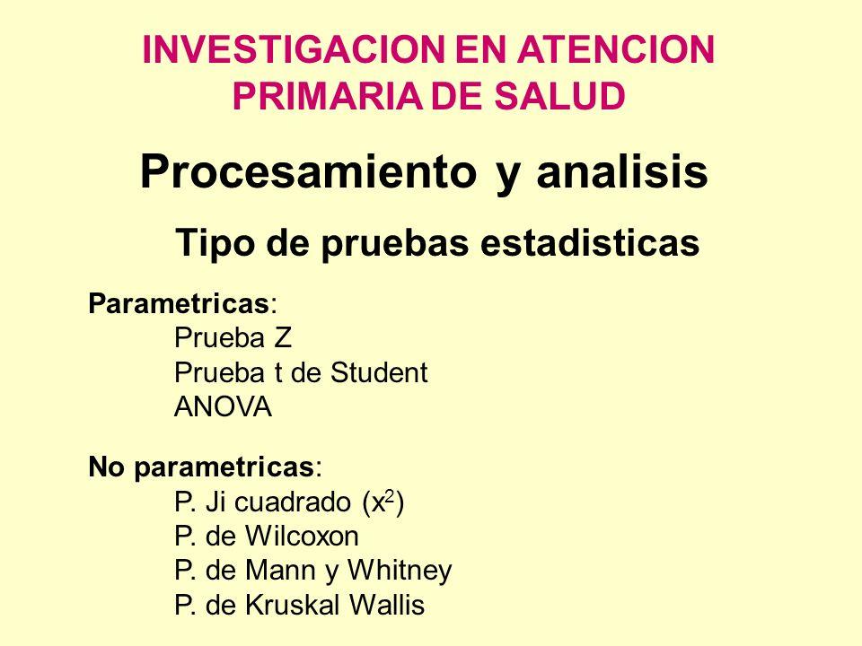Procesamiento y analisis