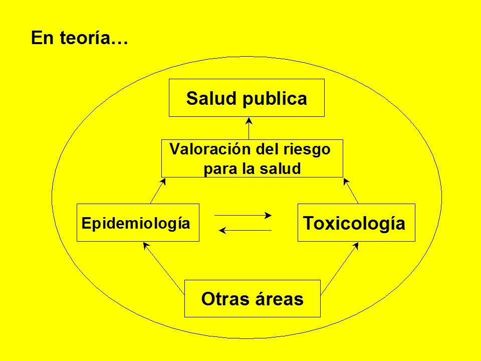 En teoría… Salud publica Otras áreas