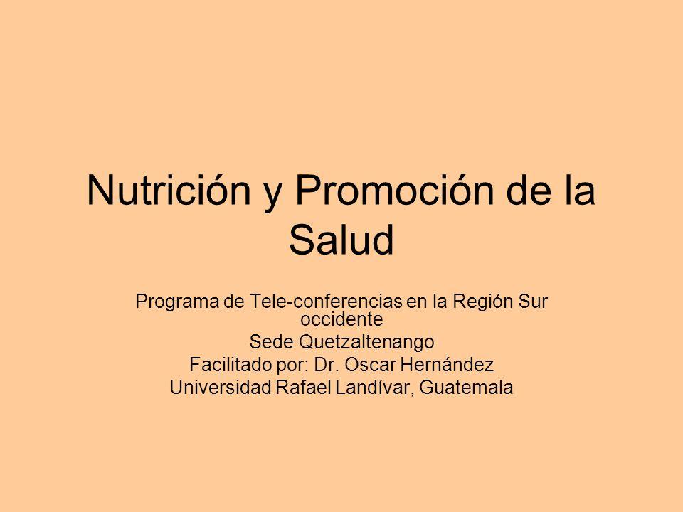 Nutrición y Promoción de la Salud