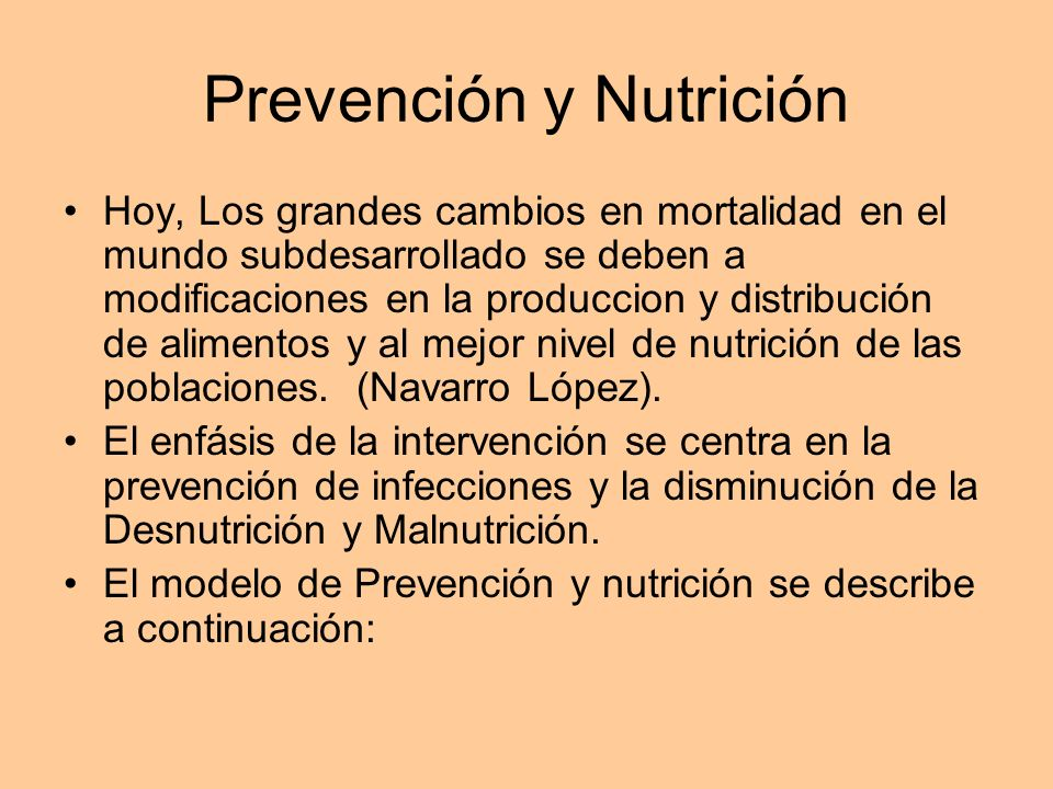 Prevención y Nutrición