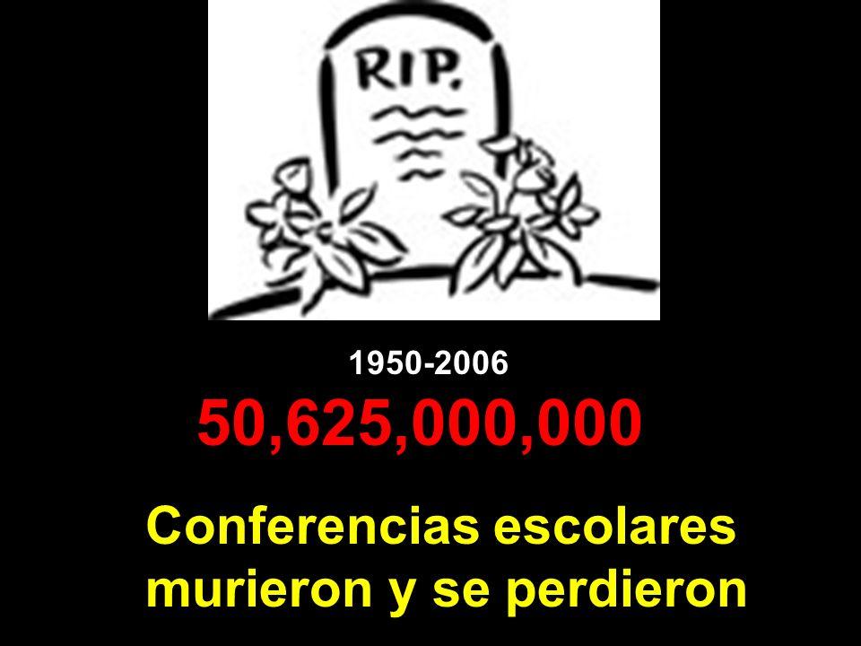 50,625,000,000 Conferencias escolares murieron y se perdieron