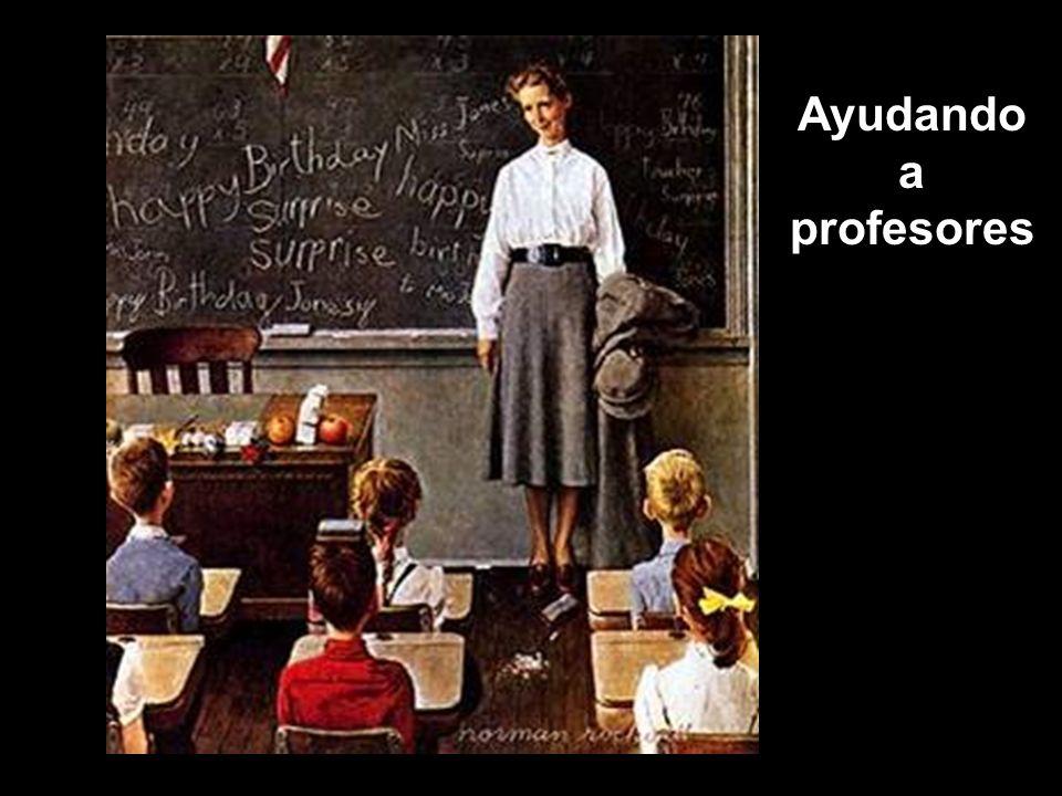 Ayudando a profesores