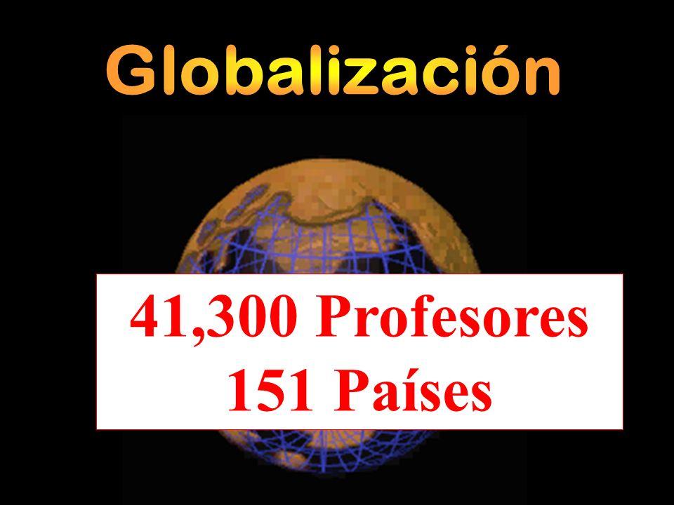 41,300 Profesores 151 Países Globalización